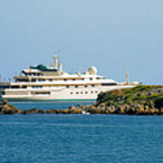 Antibes - Superyachts Of Billionaires Poster by Christine Till