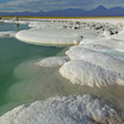 Atacama Salt Lake Near San Pedro De Poster