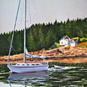 Bass Harbor Light Poster by Karol Wyckoff