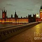Big Ben And Houses Of Parliament Poster