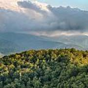 Blue Ridge Parkway Scenic Mountains Overlook Summer Landscape Poster