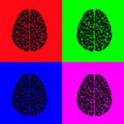 4 Brain Pop Art Panel Poster