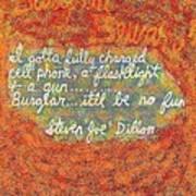 Burglar Beware Poster by Joe Dillon