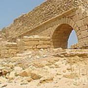 Caesarea Israel Ancient Roman Remains Poster