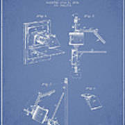 Camera Obscura Patent Drawing From 1881 Poster by Aged Pixel