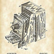 Camera Patent 1887 - Vintage Poster