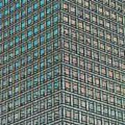 Canary Wharf London Art Poster