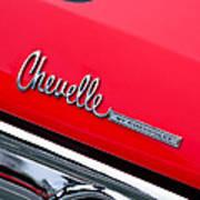 Chevrolet Chevelle Ss Taillight Emblem Poster
