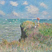 Cliff Walk At Pourville Poster