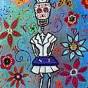 Dia De Los Muertos Nurse Poster