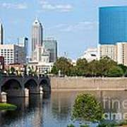Downtown Indianpolis Indiana Skyline Poster
