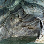 Eroded Marble Shoreline Poster