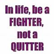 Fighter Life Widom Quote Words Script Signature   Art  Navinjoshi  Artist Created Images Textures Pa Poster