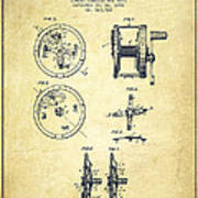 Fishing Reel Patent From 1896 Poster