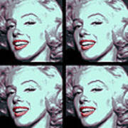 4 Frame Marilyn Pop Art Poster