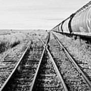 freight grain trucks on former canadian pacific railway now great sandhills railway through leader S Poster