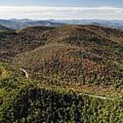 Graveyard Fields On The Blue Ridge Parkway Aerial Poster