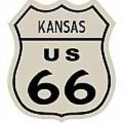 Historical Route 66 Sign Poster