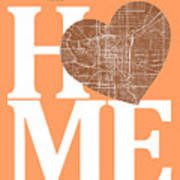 Indianapolis Street Map Home Heart - Indianapolis Indiana Road M Poster