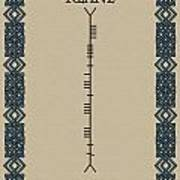 Keane Written In Ogham Poster