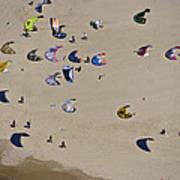 Kitesurfing, Tel Aviv Poster by Ofir Ben Tov