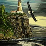 Lighthouse  Eagle Poster