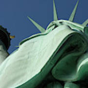 Low Angle View Of Statue Of Liberty Poster