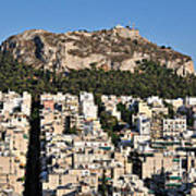 Lycabettus Hill During Sunset Poster