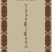 Maccabe Written In Ogham Poster