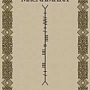 Macnamara Written In Ogham Poster