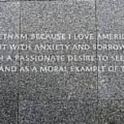 Martin Luther King Jr Memorial Poster