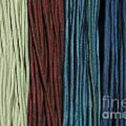 Multi-colored Striped Fabrics Poster