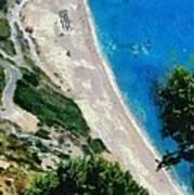 Myrtos Beach In Kefallonia Island Poster