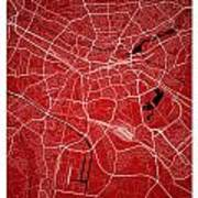 Nuremberg Street Map - Nuremberg Germany Road Map Art On Colored Poster