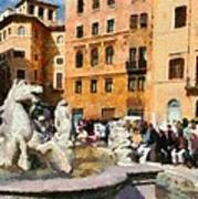 Piazza Navona In Rome Poster