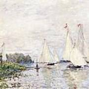 Regatta At Argenteuil Poster by Claude Monet