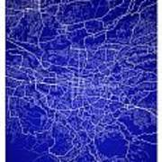 San Jose Street Map - San Jose Costa Rica Road Map Art On Colore Poster