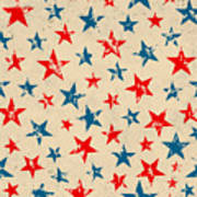 Seamless Pattern For 4th Of July Poster
