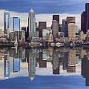 Seattle Skyline Waterfront Poster