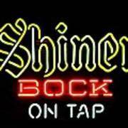 Shiner Bock On Tap Poster