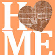 Tampa Street Map Home Heart - Tampa Florida Road Map In A Heart Poster