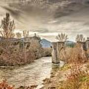 The Ancient Bridge At Ponte Novu In Corsica Poster