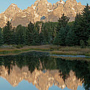 The Grand Tetons Schwabacher Landing Grand Teton National Park Poster