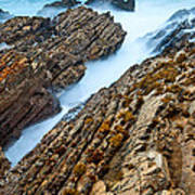 The Jagged Rocks And Cliffs Of Montana De Oro State Park In California Poster
