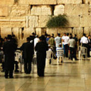 Praying At The Western Wall Poster
