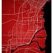 Thunder Bay Street Map - Thunder Bay Canada Road Map Art On Colo Poster