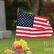 Us Flag On Memorial Day Poster