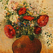 Vase Of Flowers Poster by Odilon Redon