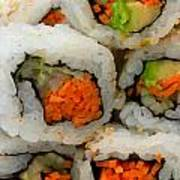Vegetable Sushi Poster