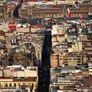 View From Torre Latinoamerican Poster
